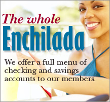 Full menu of savings and checking accounts